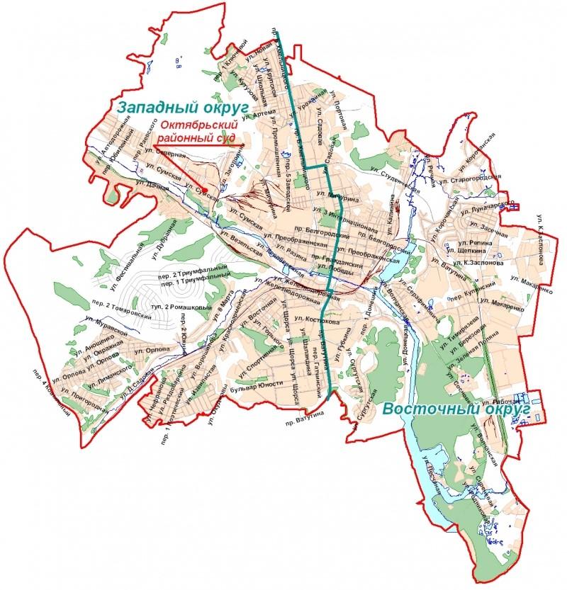Знакомство с картой шебекинского района